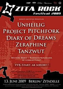 Lineup fürs ZITA ROCK FESTIVAL 2009 fast komplett