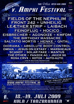 FIELDS OF THE NEPHILIM Headliner beim AMPHI FESTIVAL 2009