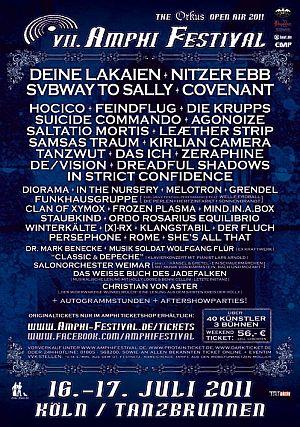 Auch NITZER EBB und COVENANT fürs AMPHI FESTIVAL 2011 bestätigt!