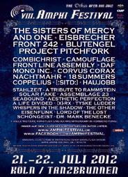 Erste Bands für das AMPHI FESTIVAL 2012 bereits bestätigt! U.a. dabei. SISTERS OF MERCY, DAF, HAUJOBB, CAMOUFLAGE und MONO INC.