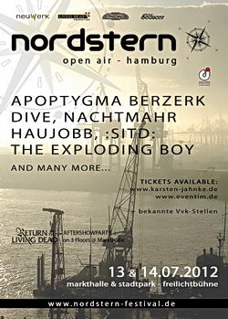 Das NORDSTERN FESTIVAL 2012 findet am 13+14.07.2012 statt. Erste Bands bestätigt!