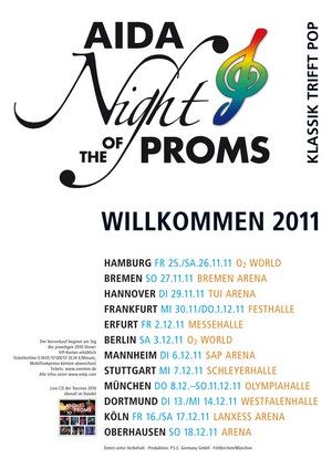 Konzerthinweis: AIDA NIGHT OF THE PROMS 2011 in vielen deutschen Städten