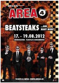 Das AREA 4 FESTIVAL findet auch 2012 statt, BEATSTEAKS als erste Band bestätigt!