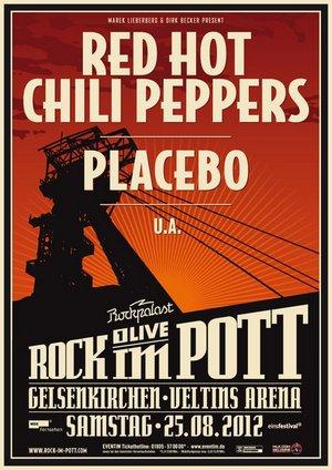 Preview : Das erste ROCK IM POTT findet 2012 u.a. mit den RED HOT CHILI PEPPERS und PLACEBO statt