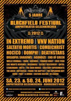 Tickets für das BLACKFIELD FESTIVAL 2012 werden knapp - Warmup-Parties bestätigt!