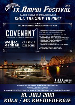 """Schiffstour mit Live-Acts! Tolle Eröffnungsveranstaltung """"Call The Ships To Port"""" für das AMPHI FESTIVAL 2013"""