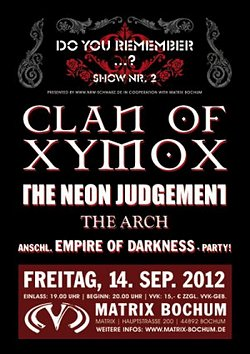 Preview : DO YOU REMEMBER...? Nr. 2 lockt mit CLAN OF XYMOX, THE ARCH und THE NEON JUDGEMENT