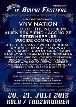 VNV NATION und FUNKER VOGT für das AMPHI FESTIVAL 2013 bestätigt