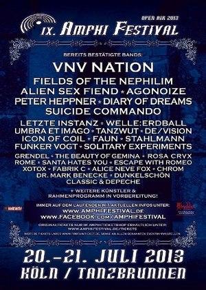 Auch DIARY OF DREAMS gesellen sich zu den namhaften Acts des AMPHI FESTIVAL 2013