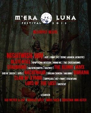 Interessante Neuzugänge für das M'ERA LUNA FESTIVAL 2013 (NIGHTWISH, HIM, IAMX, DIORAMA etc)