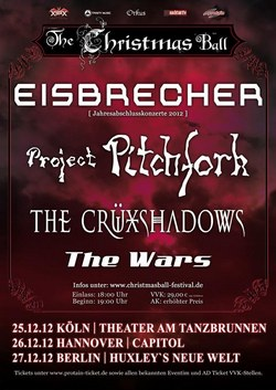 VERLOSUNG : CHRISTMAS BALL FESTIVALS 2012 mit EISBRECHER, PROJECT PITCHFORK, THE CRÜXSHADOWS & THE WARS