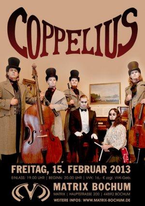 Preview : COPPELIUS präsentieren ihr bereits 4. Album in nur 200 Jahren live in Bochum!