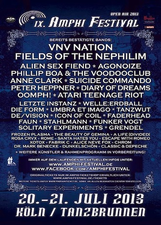Drei neue Bands etwas abseits der Norm für das AMPHI FESTIVAL 2013