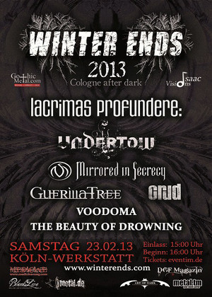 Preview : WINTER ENDS Festival in Köln will am 23.02. den Winter mit Dark Rock und Metal vertreiben