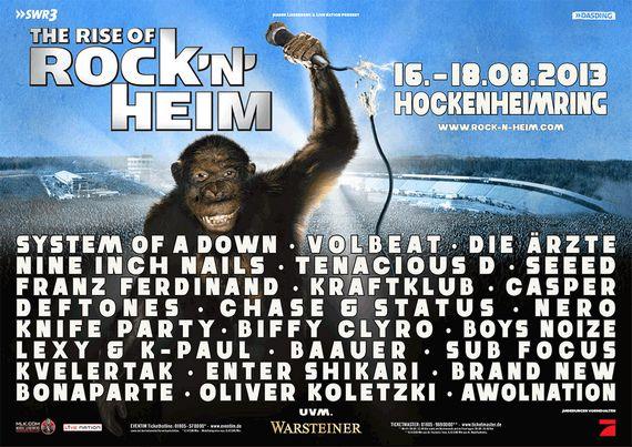 Neue Bands für das ROCK'N'HEIM FESTIVAL 2013: u.a. FRANZ FERDINAND & KRAFTKLUB dabei