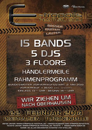 E-TROPOLIS FESTIVAL zieht 2014 von Berlin nach Oberhausen