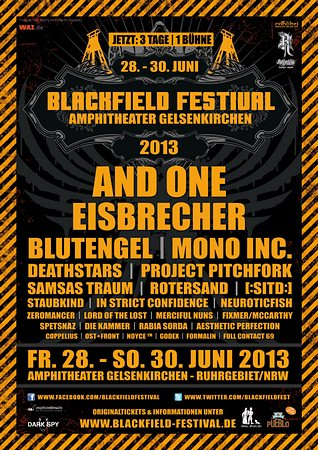 Preview : BLACKFIELD FESTIVAL in 2013 zum sechsten Mal in Gelsenkirchen
