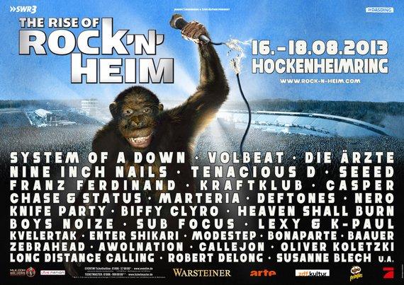 Preview : ROCK'N'HEIM FESTIVAL 2013 - Ergänzung zu ROCK AM RING aus gleichem Hause
