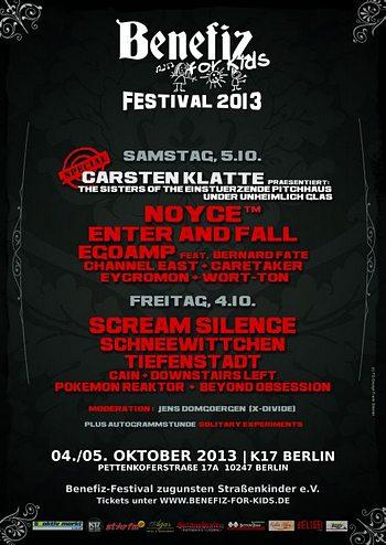 Preview : Tolle Bands für einen guten Zweck: Das BENEFIZ FOR KIDS 2013 in Berlin