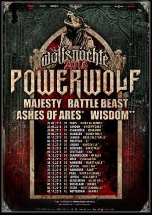Preview : POWERWOLF präsentieren die Wolfsnächte Tour 2013