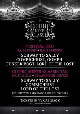 Running Order für das GOTHIC MEETS KLASSIK 2013 in Leipzig bekanntgegeben!