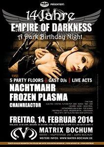 Preview : NACHTMAHR und FROZEN PLASMA live beim 14. MATRIX BOCHUM Geburtstag
