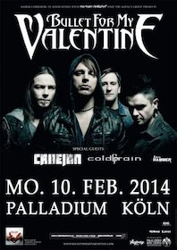 Preview : BULLET FOR MY VALENTINE mit CALLEJON und WHILE SHE SLEEPS on Tour