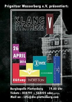 KLANGSYNTHESE - Festval mit EGOAMP, X-DIVIDE, WORT-TON uvm am 26.04.2014