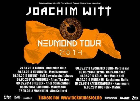 Preview : LEICHTMATROSE supportet JOACHIM WITT auf seiner Neumond-Tour 2014