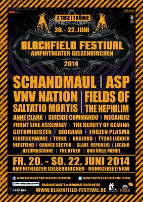 Preview : BLACKFIELD FESTIVAL begeht im Juni 2014 das verflixte siebte Jahr!