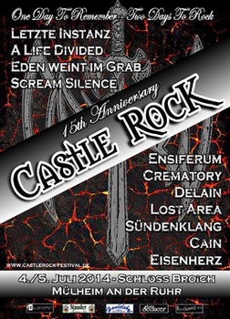 Preview : 15. Jubiläum beim CASTLE ROCK in Mülheim an der Ruhr mit starkem Line-up