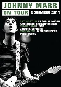 Preview : Gitarrengott JOHNNY MARR (ex THE SMITHS) kommt live nach Köln!