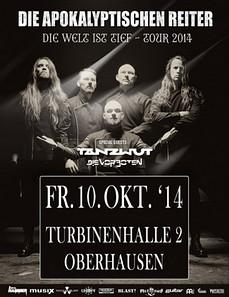 Preview : DIE APOKALYPTISCHEN REITER mit TANZWUT in der Turbinenhalle 2 Oberhausen