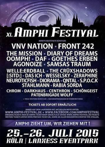 Umzug! AMPHI FESTIVAL zieht um, erste Bands bestätigt!