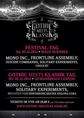 Preview : GOTHIC MEETS KLASSIK 2014 mit MONO INC, FLA und mehr!