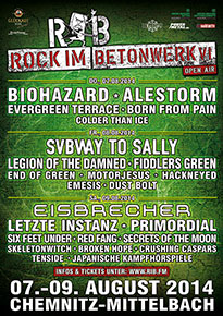 Preview : ROCK IM BETONWERK 2014 lässt es nochmal ordentlich krachen