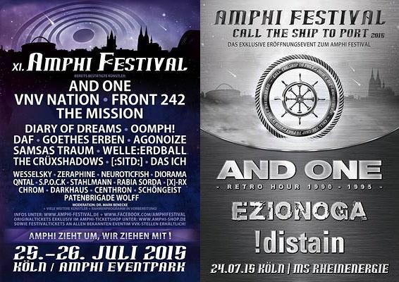 Preview : AMPHI FESTIVAL 2015 in neuer Location und auf hoher See