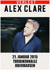 Preview : Nachholtermine der ALEX CLARE Tour ab Januar 2015