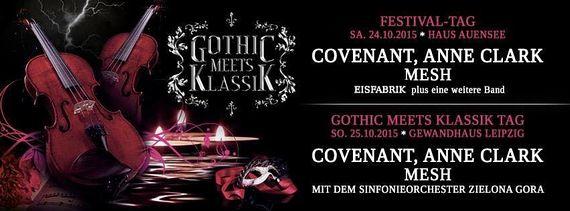 MESH und ANNE CLARK neben COVENANT beim GOTHIC MEETS KLASSIK 2015