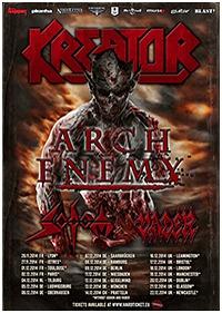 Preview : Hartes Metal-Paket: KREATOR mit ARCH ENEMY, SODOM & VADER auf Tour 2014