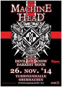 Preview : Neo-Thrash-Götter MACHINE HEAD kommen Ende November nach Oberhausen