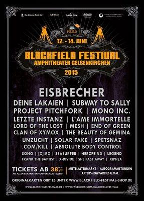 Preview : BLACKFIELD FESTIVAL 2015 zum achten und letzten Mal in Gelsenkirchen