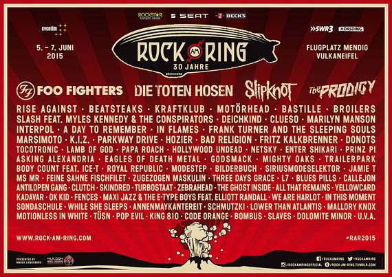 Preview : ROCK AM RING mit starken Headlinern in neuer Location