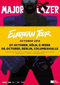Preview : MAJOR LAZER kommt Anfang Oktober nach Köln und Berlin