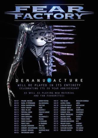 "FEAR FACTORY in Köln Auf ""Demanufacture""-Jubiläumstour"