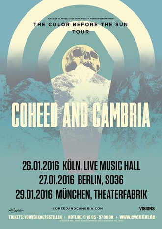 """Coheed And Cambria auf """"The Color Before The Sun"""" Tour"""