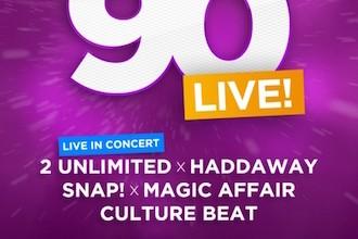 MEGA 90er LIVE! Konzert (2 Unlimited, Haddaway, Snap...) - Düsseldorf, ISS Dome (04.12.2015)