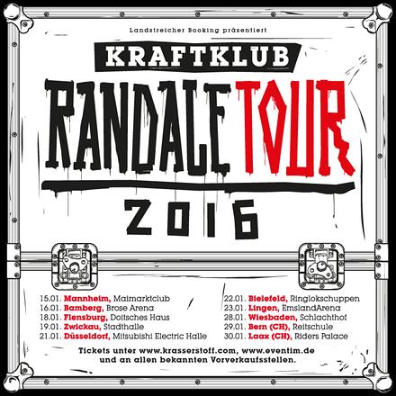 "KRAFTKLUB gehen auf ""Randale""-Tour 2016"