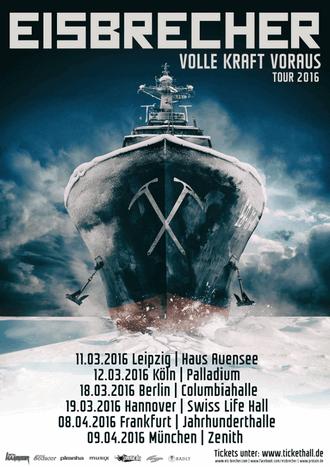 Eisbrecher - Volle Kraft voraus Tour 2016 mit Unzucht