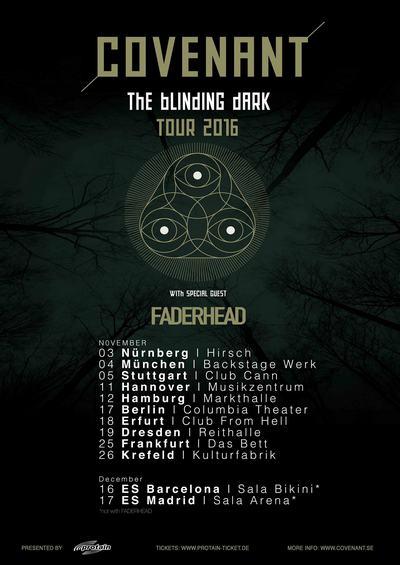 COVENANT kommen im November 2016 auf Tour! 10 Termine in Deutschland